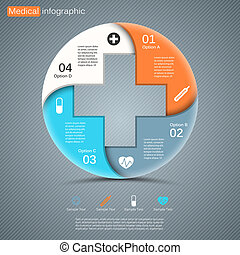 médico, modernos, projeto, vetorial, modelo, seu