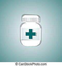 médico, píldora
