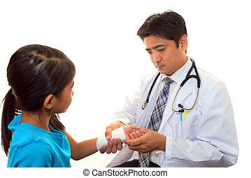 médico, paciente, doutor