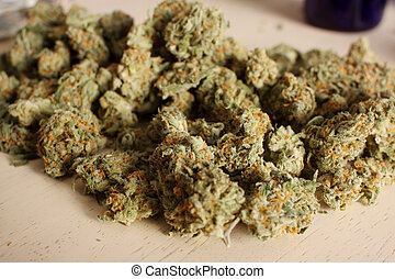 médico, pilha, marijuana