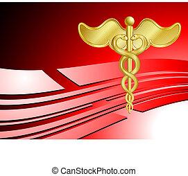 médico, plano de fondo, atención sanitaria