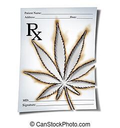 médico, prescrição, marijuana