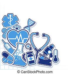 médico, projete elementos, vetorial