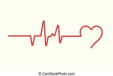 médico, pulso, vector, presión, ekg, salud, corazón, ecg, ...