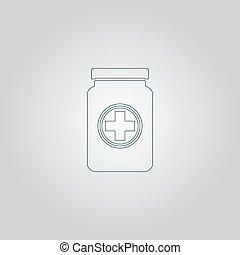 médico, recipiente