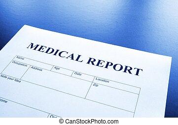 médico, relatório