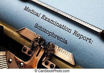 médico, relatório, -, esquizofrenia