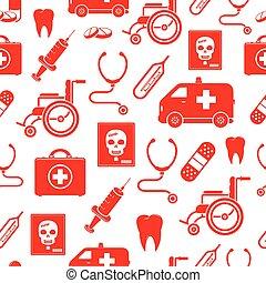 médico, seamless, padrão