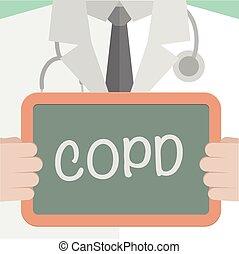 médico, tábua, copd