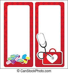 médico, tarjetas