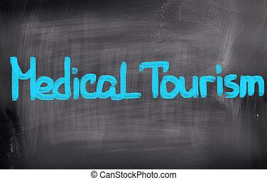 médico, turismo, conceito