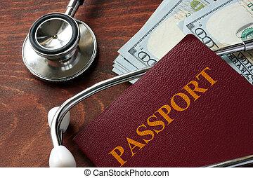médico, turismo, concept.