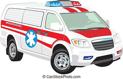 médico, vehículo