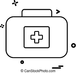 médico, vetorial, desenho, ícone