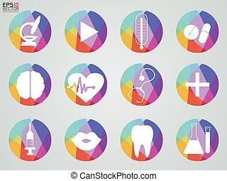 médico, vetorial, ilustração, ícone