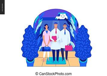 médico, -, visitas, modelo, especialistas, seguro