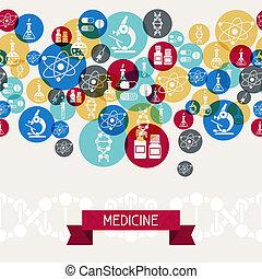 médico y salud, cuidado, fondo.