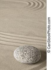 méditation, équilibre, zen jardin, harmonie