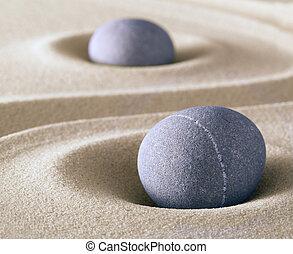 méditation, équilibre, zen, pierre