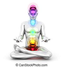 méditation, chakra