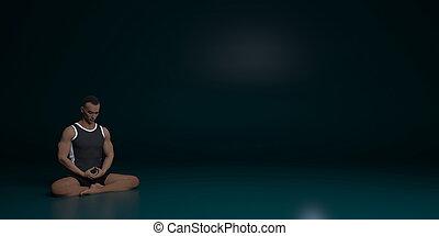 méditation, concept, zen