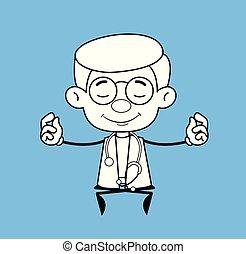 méditation, gynécologue, -, docteur