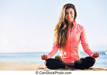 méditation, matin