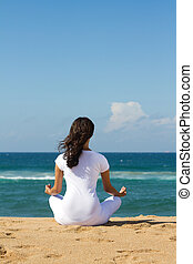 méditation, plage