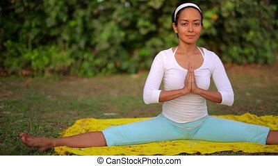 méditation, yoga, exercice, nature