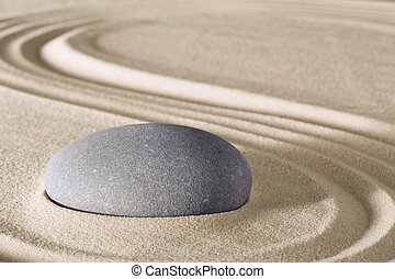 méditation, zen, pierre