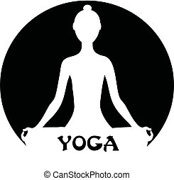 méditer, -, femme, concept, yoga