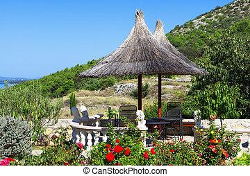 méditerranéen, jardin