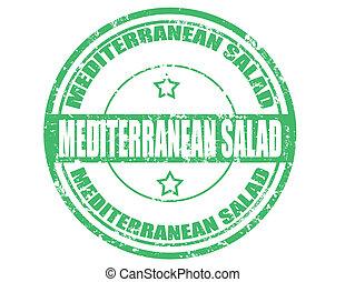 méditerranéen, salad-stamp