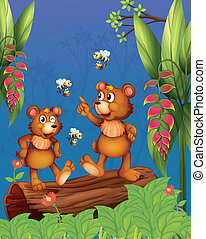 méhek, erdő, hord