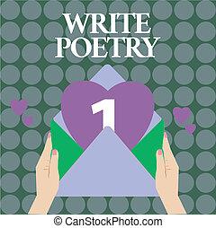mélancolique, concept, mot, business, poetry., texte, rime, ...