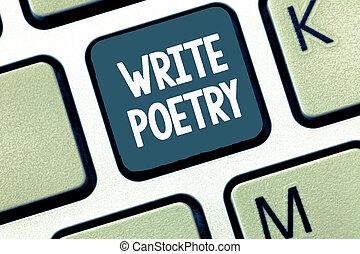 mélancolique, concept, poetry., texte, rime, idées, écriture...