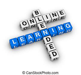 mélangé, apprentissage, ligne