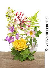 mélangé, arrangement fleur