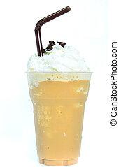 mélangé, café glacé, fouetté, cream.