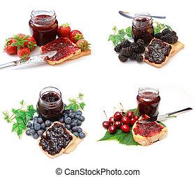 mélange, confiture, marmelade