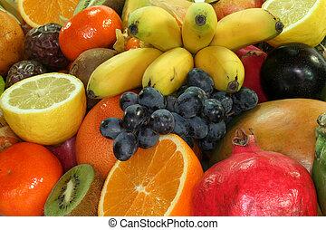 mélange, fruit