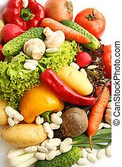mélange, légumes