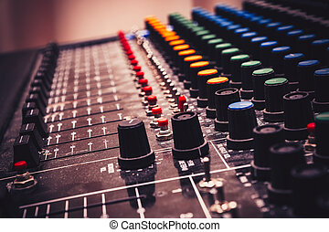 mélange, vieux, console, analogue