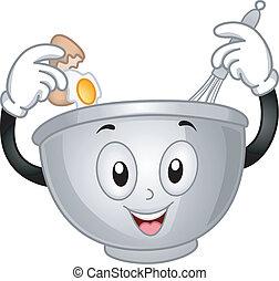 mélangeant bassin, mascotte