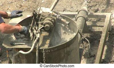mélangeur, industriel, ciment