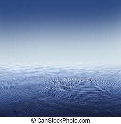 mély, blue víz