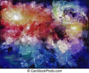 mély, hely, festmény