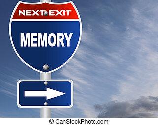 mémoire, panneaux signalisations