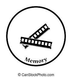 mémoire, vecteur, illustration ordinateur, icône