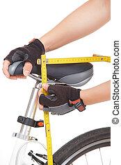 mérés, bicikli, nyereg